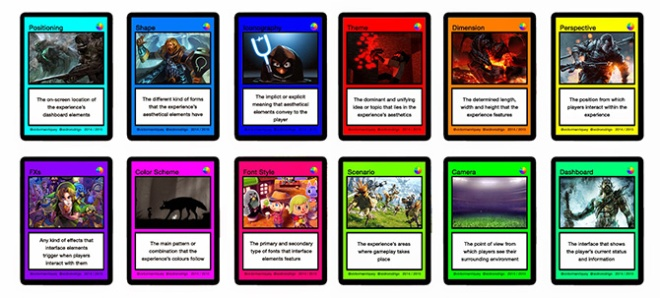The Gamification Aesthetics Color Wheel Cards